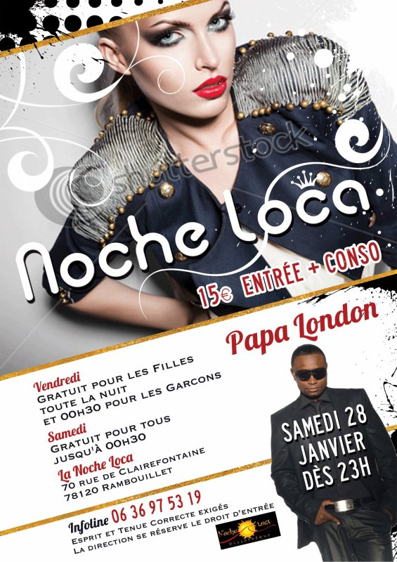Papa London en concert à la  Discothèque Noche-Loca