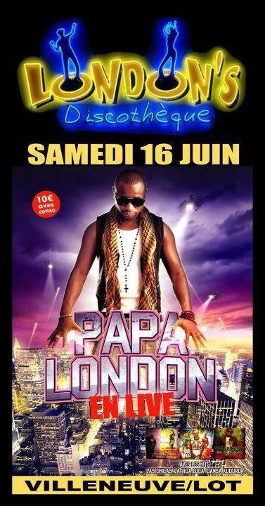 Papa London en concert au  London's Club dans le Sud Ouest
