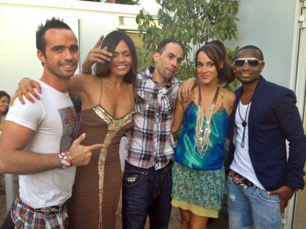 Avec Karine Lima et Manyone a Juan les Pins