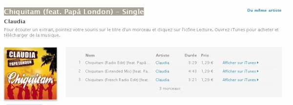 Chiquitam (feat. Papá London) - Single sur Itunes