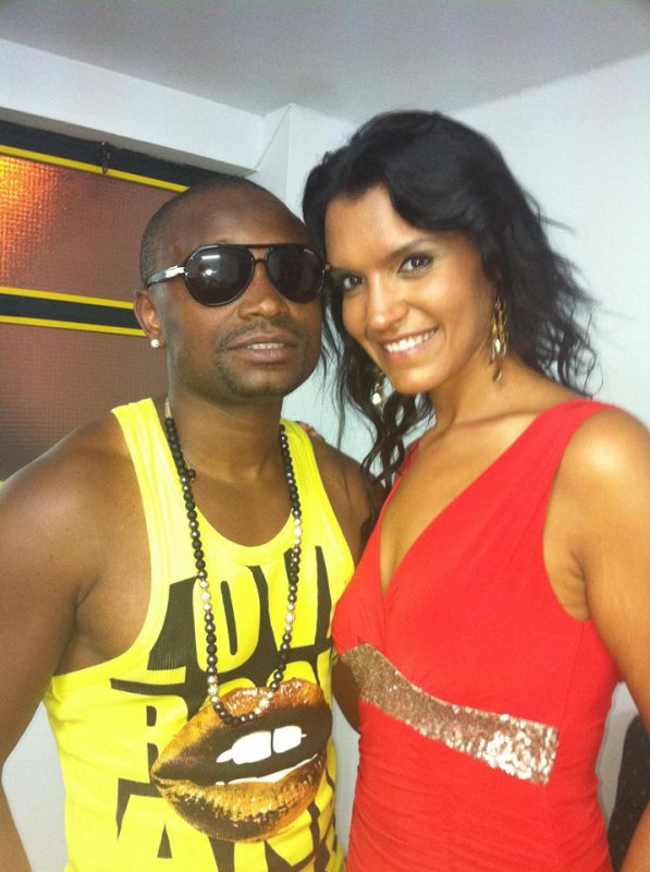 Avec Claudia Lacerda