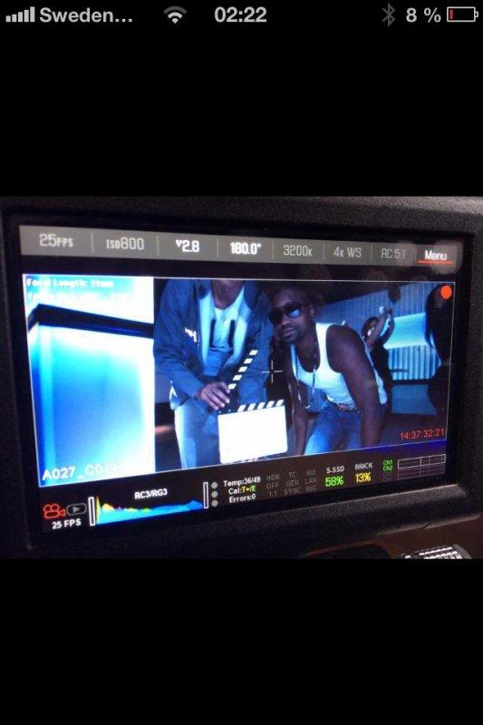 Image du tournage du new clip