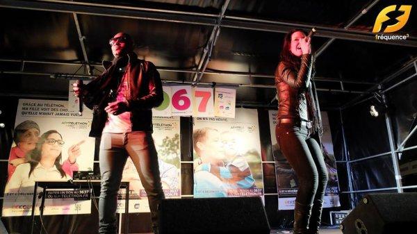 Papa London et Claudia concert Téléthon sur Fréquence 3