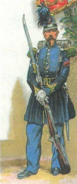 CHASSEUR A PIED  DE  1840