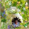 joyeuses fètes de paques à armelle , marie , chantal et nicky , bisous