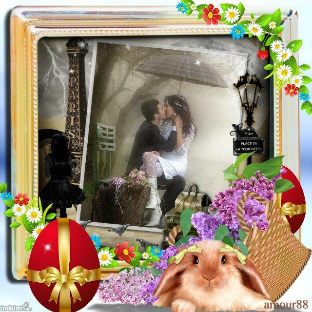 joyeuses paques a mon ami amour88 , bisous