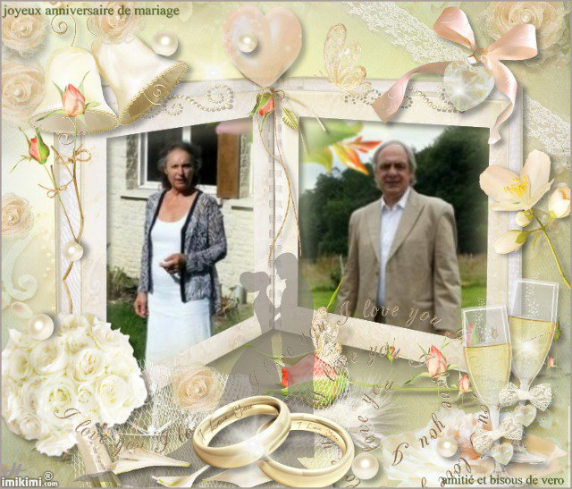 joyeux anniversaire de mariage brigitte et beaucoup de bonheur pour vous bisous