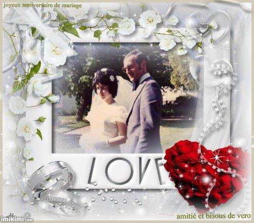 joyeux anniversaire de mariage fanfan et beaucoup de bonheur pour toi , bisous