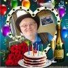 joyeux anniversaire bernard , bisous