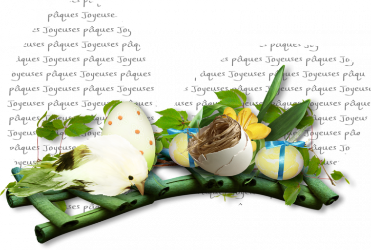 joyeuses fètes de paques pierre , jacotte , witol et itounany , bisous