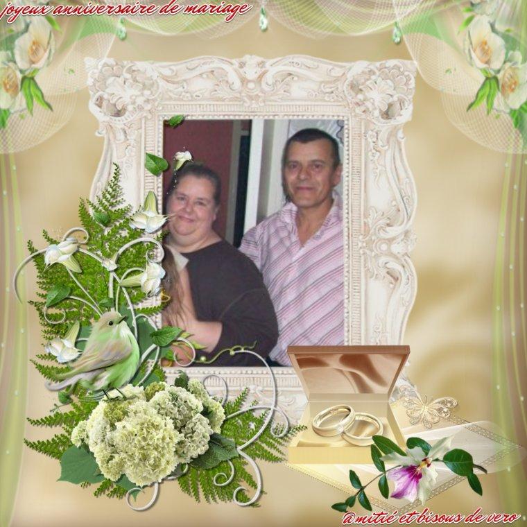 joyeux anniversaire de mariage anita et beaucoup de bonheur pour toi , bisous