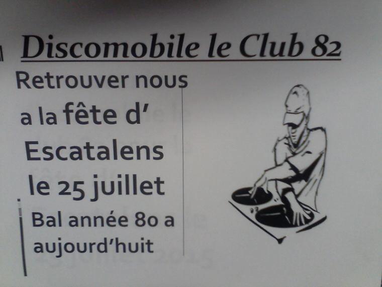 Retrouver le club 82 pour la fête  d'escatalens