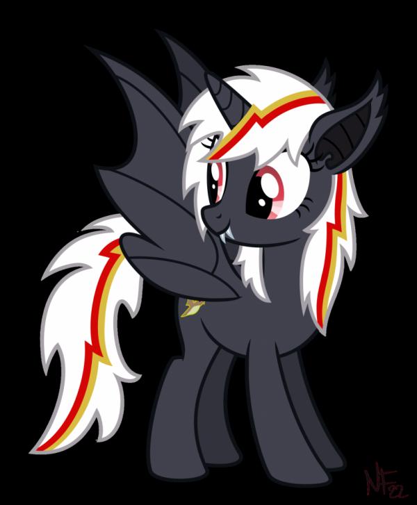 Velvet Remedy en bat-pony