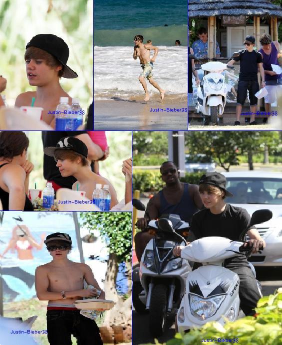Justin a Hawai avec Jasmine