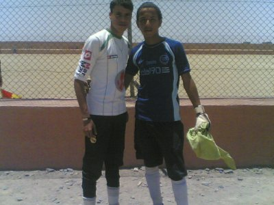 me and the second gool kiper of my team