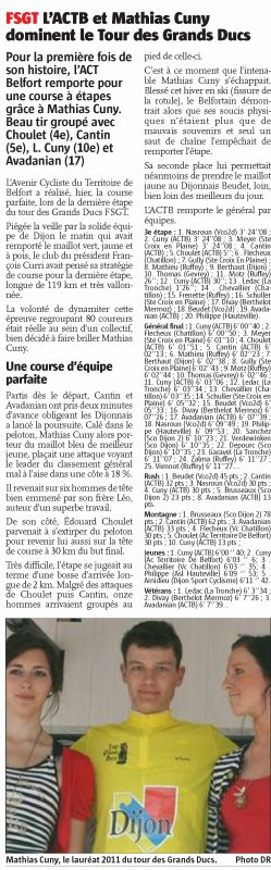 Revue de presse L' ALSACE / LE PAYS