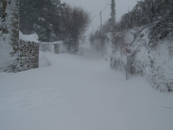 la neige en normandi en mars