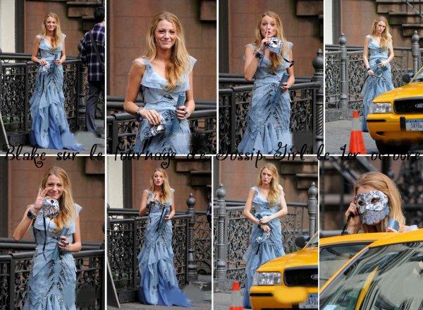 01.10.10 : Blake La belle Blake a été aperçue le 1er octobre dernier, alors qu'elle se trouvait dans une rue de New York pour le tournage de nouvelles scènes de Gossip Girl dans une belle robe de soirée.  ...