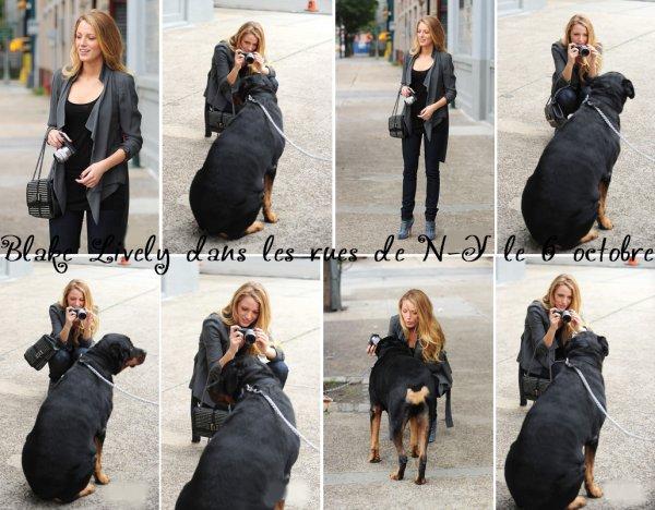 06.10.10 : Blake a été aperçue le 6 octobre, alors qu'elle se promenait dans une rue de New York City, elle s'est arrêtée pour prendre quelques photos avec une fan et un gros chien ^^.  ...