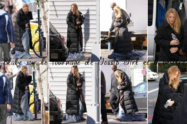 06.10.10 : Blake a été aperçue sur le tournage de Gossip Girl ce 6 octobre!.  ...