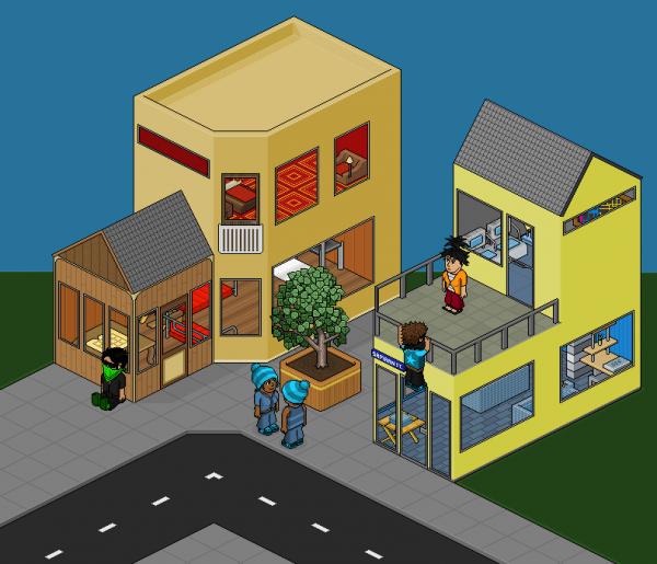 pixel art maison