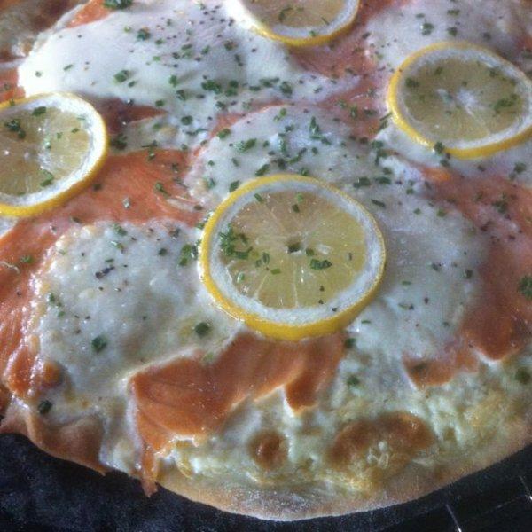 pizza aux saumons fumés
