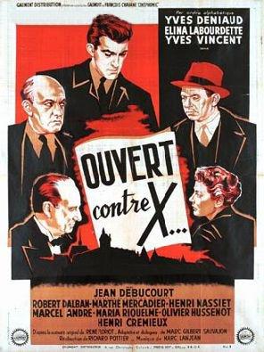1952. OUVERT CONTRE X