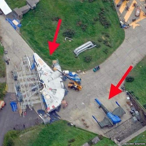 Star Wars 7 : Des photos du tournage prises par accident