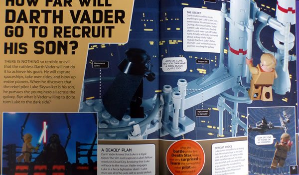 Lego Star Wars : Voici des images du livre The Dark Side