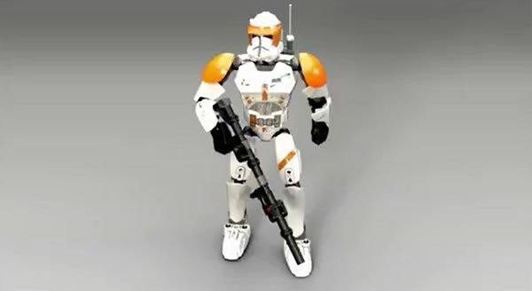 Lego Star Wars : Constraction figures du commandant cody