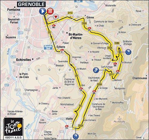Étape 20 ; Grenoble > Grenoble ( CLM / I ) ( 41 Km )