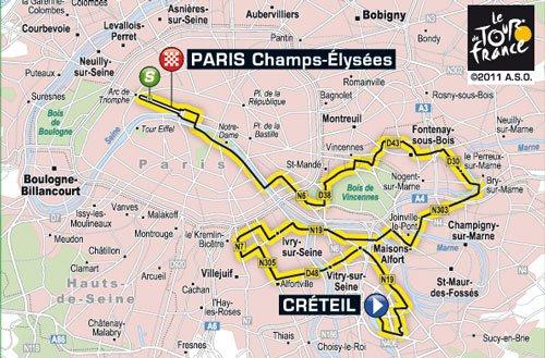 ~ Étape 21 ; Créteil > Paris Champs Élysées