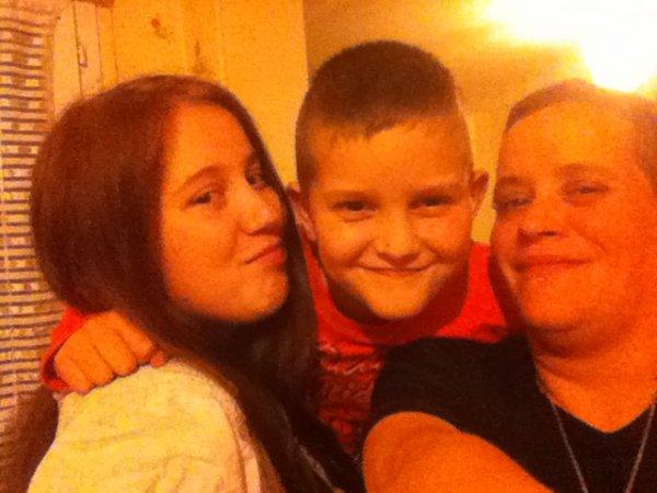 ma grande fille Constance mon fils Marius et moi