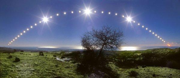 Le soleil le jour du solstice en mer Tyrrhénienne