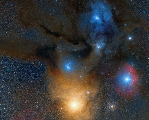 Comète 71p au dessus d'Antarès