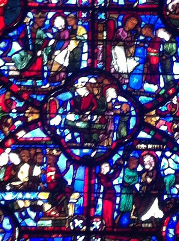 Vitrail de la cathédrale de Bourges
