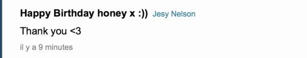 Jesy des little mix qui me dit bon anniversaire sur ask ... (l) la classe non ??