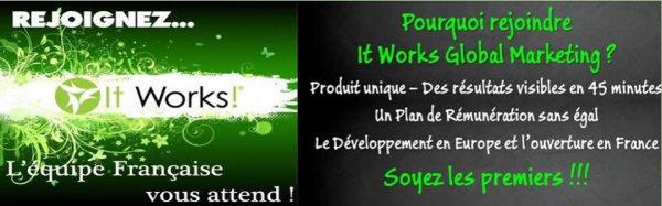 La société It Works recrute ,rejoignez notre équipe de choque on vous attend!!