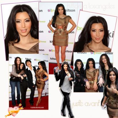 """■■■ Ce vendredi 4 janvier les soeurs kardashian et maman fesent une apparitions a Kitson Los Angeles pour leur collections Silly Bandz nommé Glam Kardashian elle était magnifique apars MissKhloe qui vient en pantalons . Kim rentrent a NYC elle a tweet """"En route pour New York ... brrrrrrrrr"""""""
