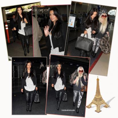 ■■■ Ce 4 février Kim a était aperçue allant et sortant de l'aeoport de los angeles pour allez a nyc