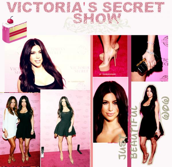 Kim et Robyn etait au victoria's secret show