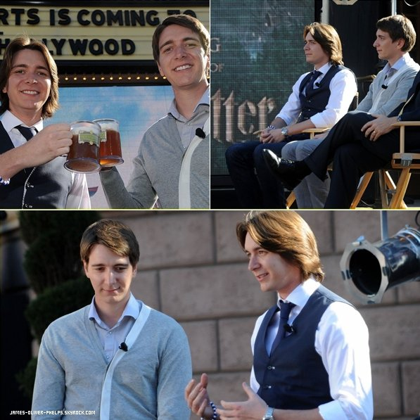06/12/11 James et Oliver étaient à l'inauguration du parc Harry Potter à Hollywood.  Top,Bof ou Flop ?