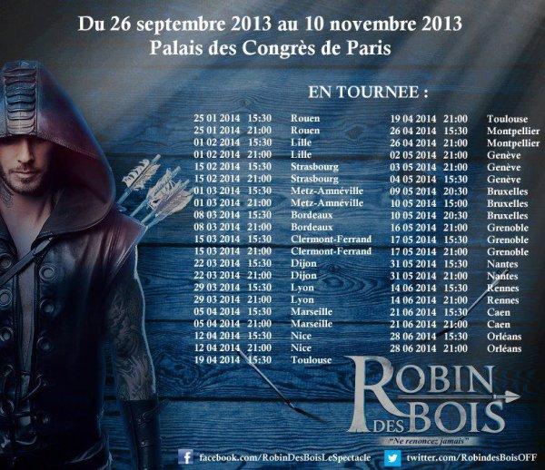 les dates Robin des bois