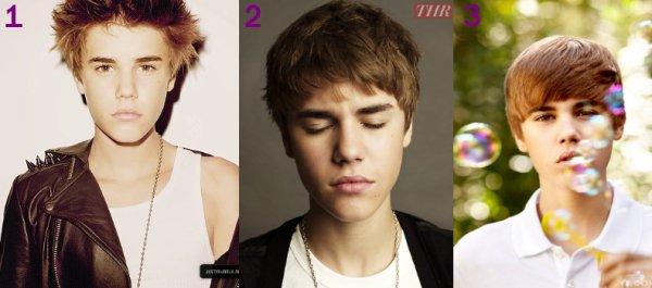 Différentes coupes de Justin