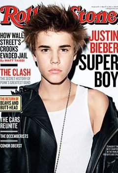 Justin dans Rolling Stone