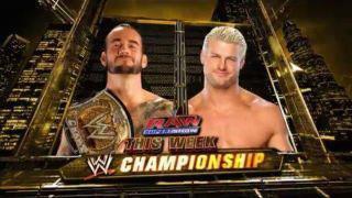 Lundi Soir à Raw : Dolph Ziggler vs CM Punk WWE Championship