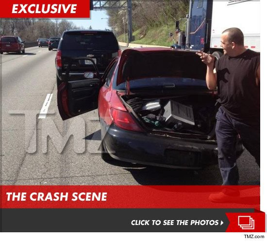 Voici la photo officielle diffusé sur TMZ de l'accident de John Cena