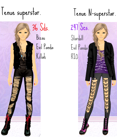 tenue rock wellstardoll. Black Bedroom Furniture Sets. Home Design Ideas