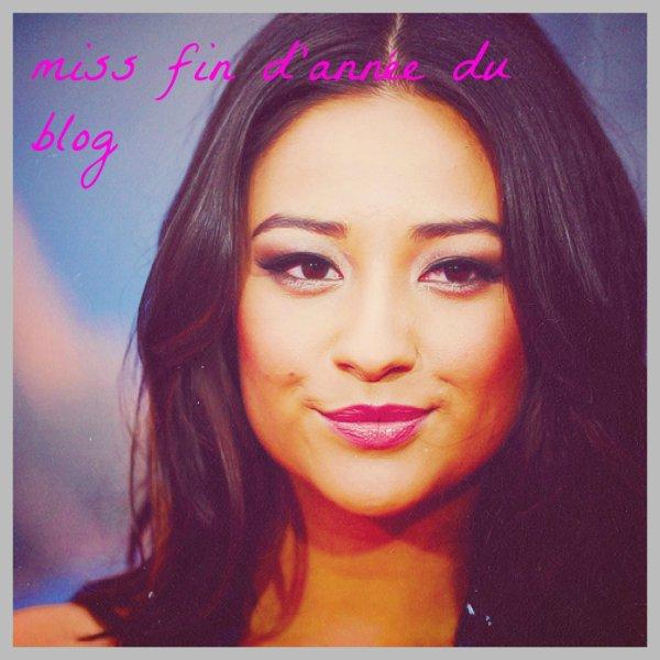 La miss de fin d'année du blog et élu