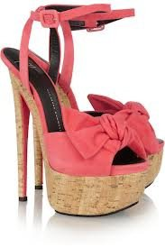 chaussure noeud rose